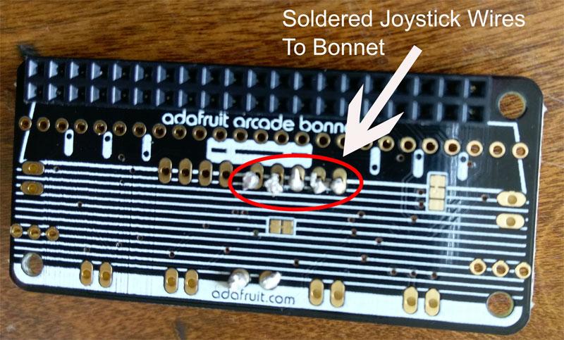 soldered joystick