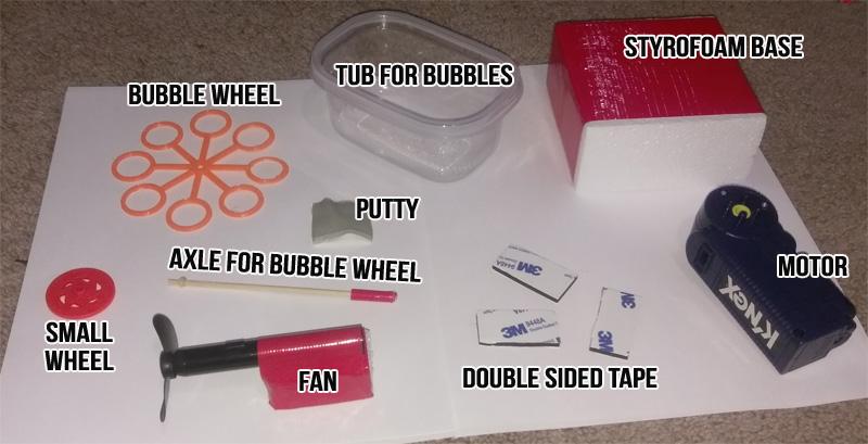 Bubble Blowing Machine Parts