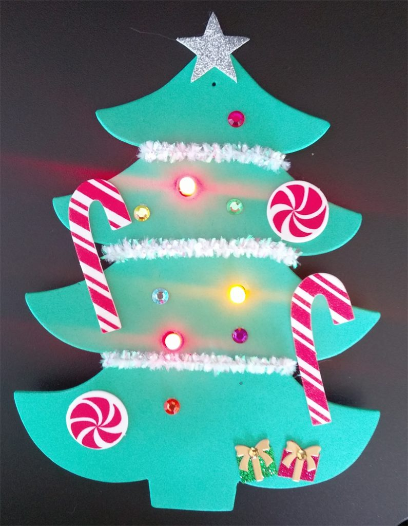 paper circuit christmas tree